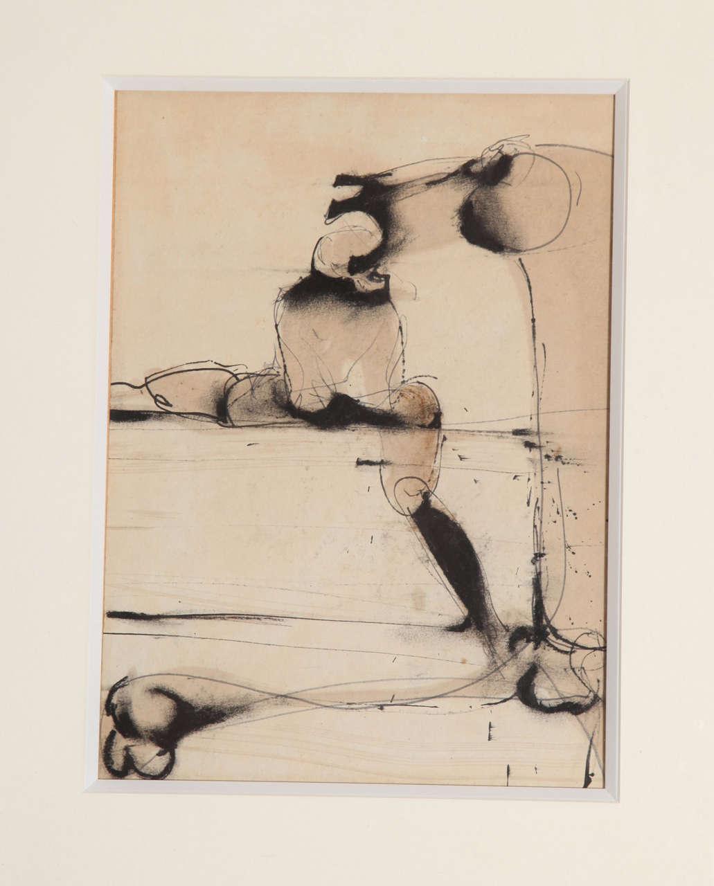 Painting, Modern Art, C 1960, Gouache 3