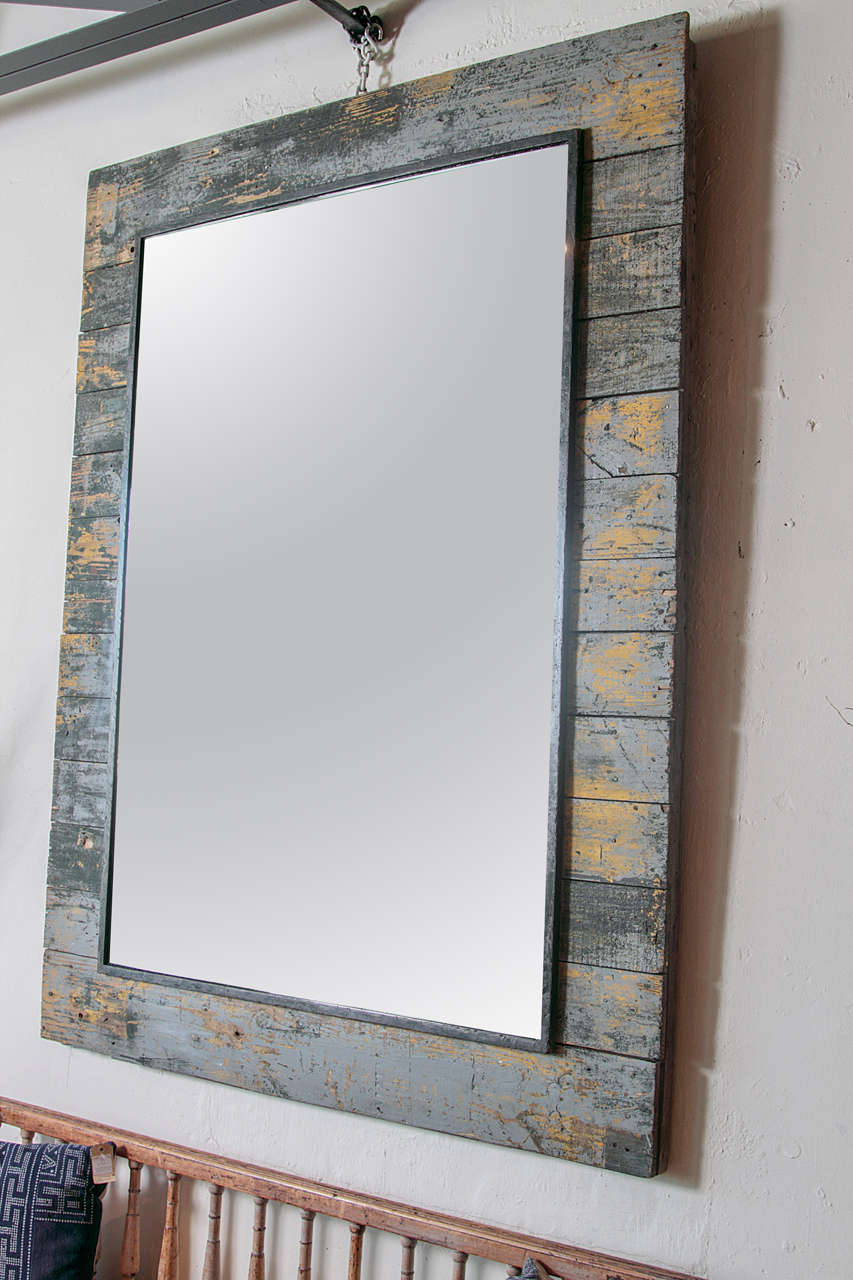 Antique rustic french large mirror frame for sale at 1stdibs for Rustic mirror