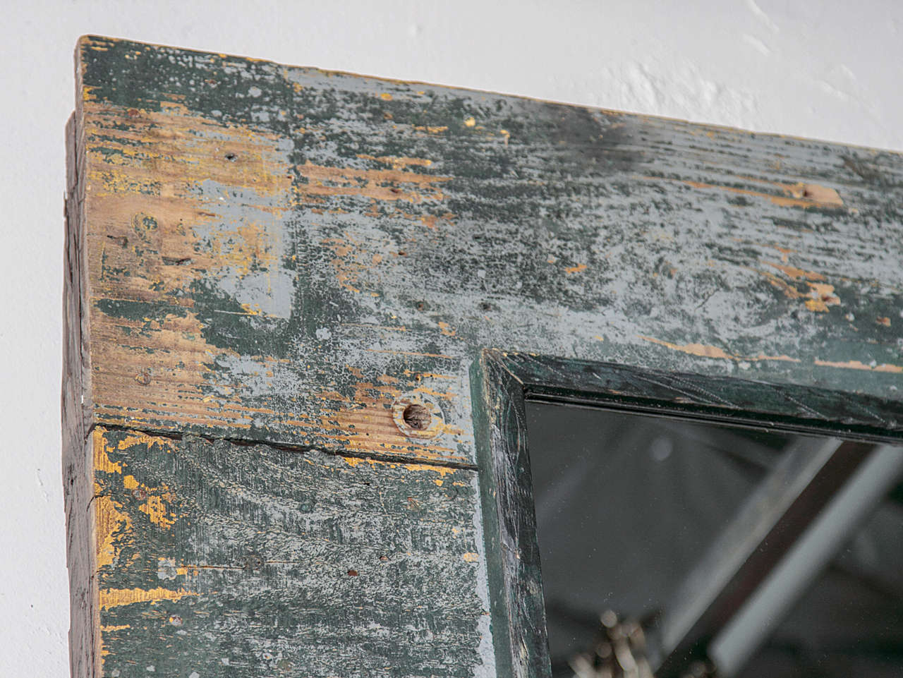 Antique Rustic French Large Mirror Frame For Sale 1