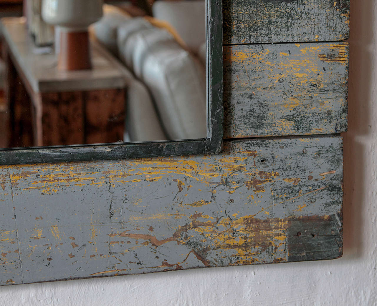 Antique Rustic French Large Mirror Frame For Sale 4