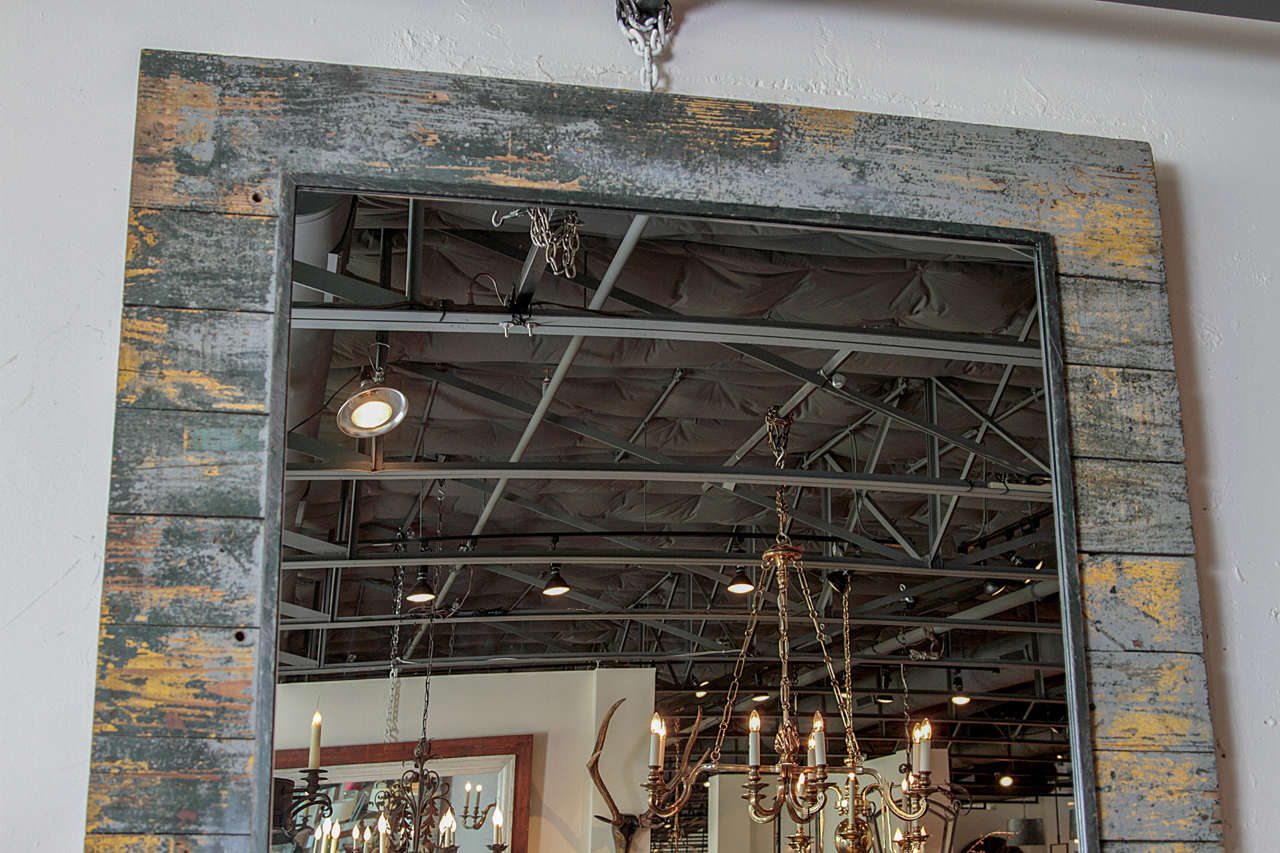 Antique Rustic French Large Mirror Frame For Sale 5