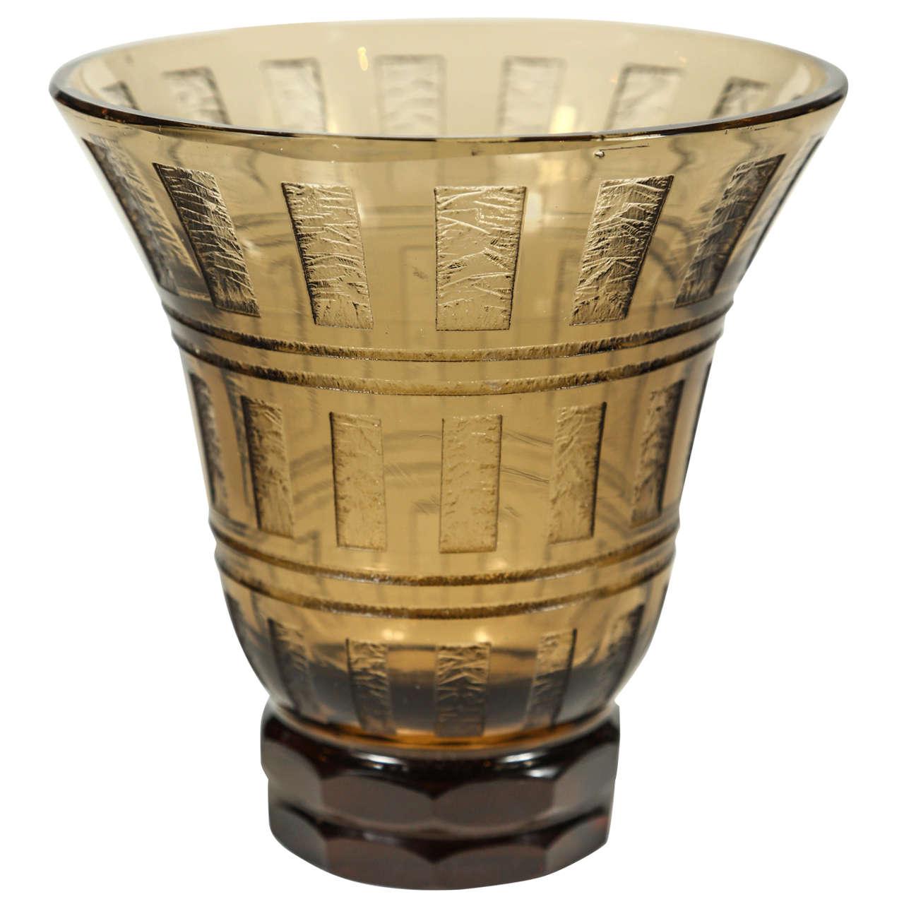 Petite Acid Etched Vase by Daum
