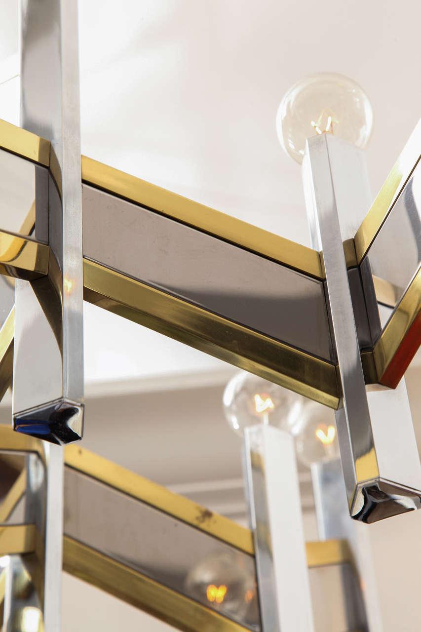 Italian 1960s Architectural Ceiling Fixture by Gaetano Sciolari 6