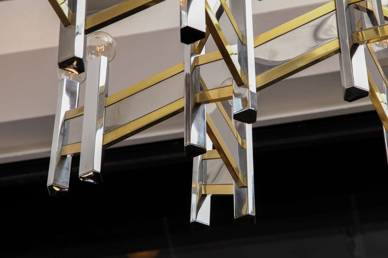 Italian 1960s Architectural Ceiling Fixture by Gaetano Sciolari 7