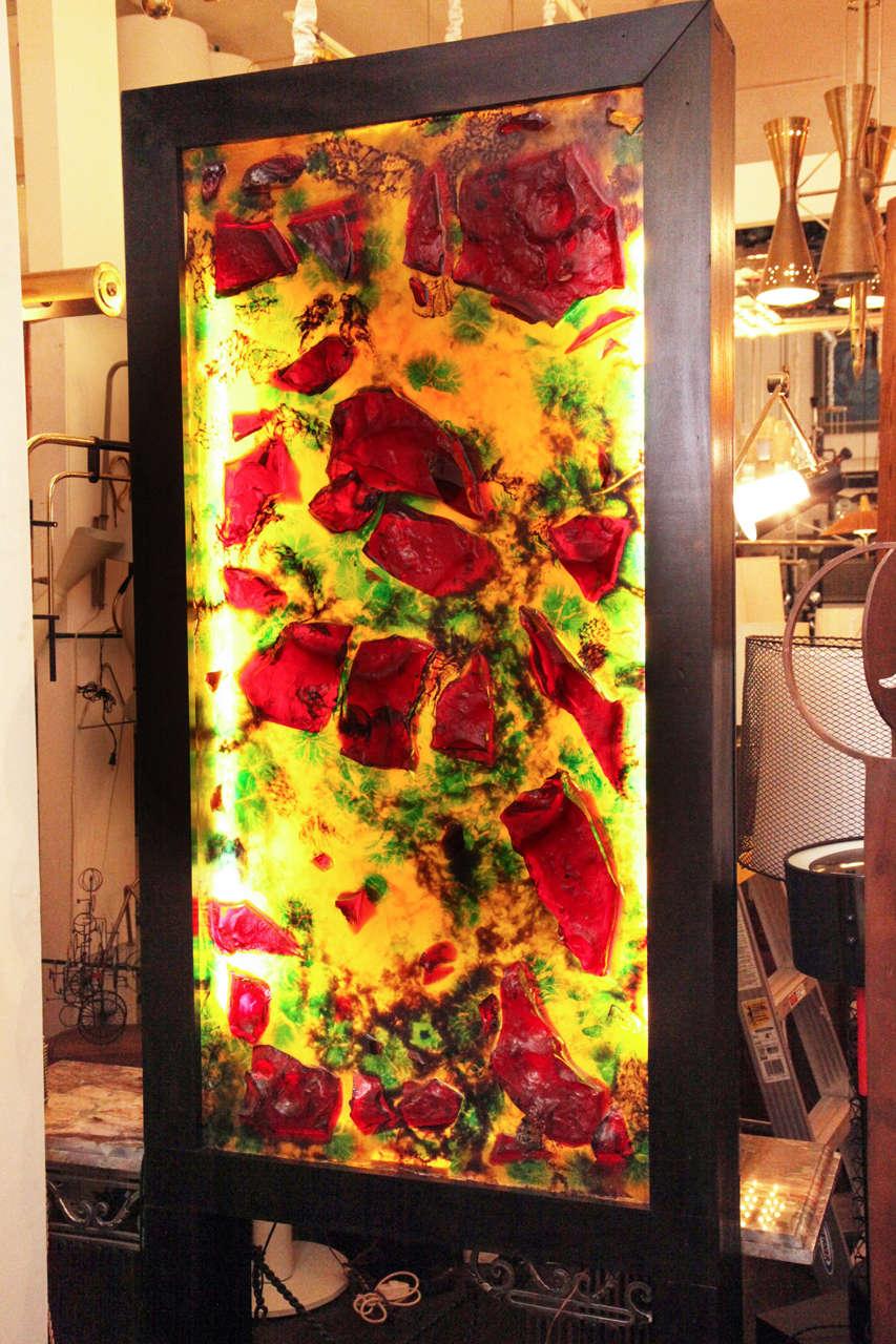Modernist Illuminated Resin Sculpture 2