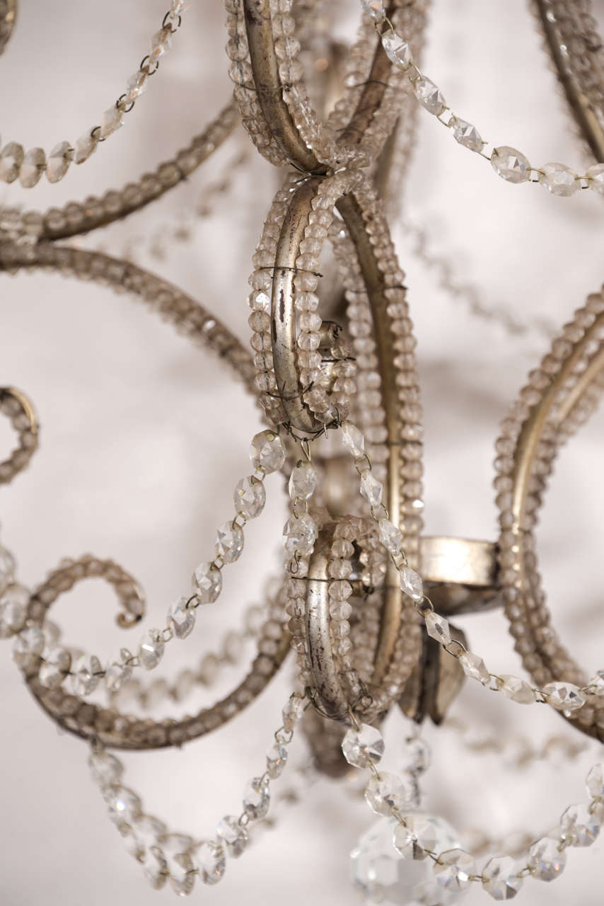 Vintage Beaded And Crystal Chandelier At 1stdibs