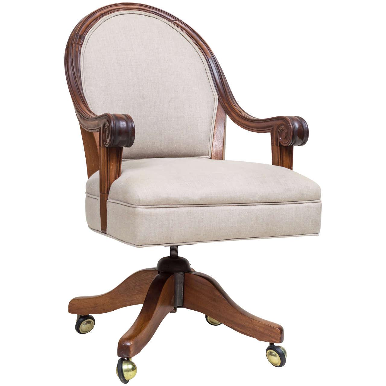 late victorian walnut desk chair for sale at 1stdibs. Black Bedroom Furniture Sets. Home Design Ideas