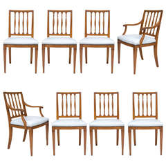 Set of Eight Italian Neoclassic Design Moderne Chairs