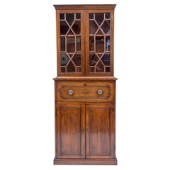 19th Century Regency Style Bookcase Cabinet of Diminutive Scale