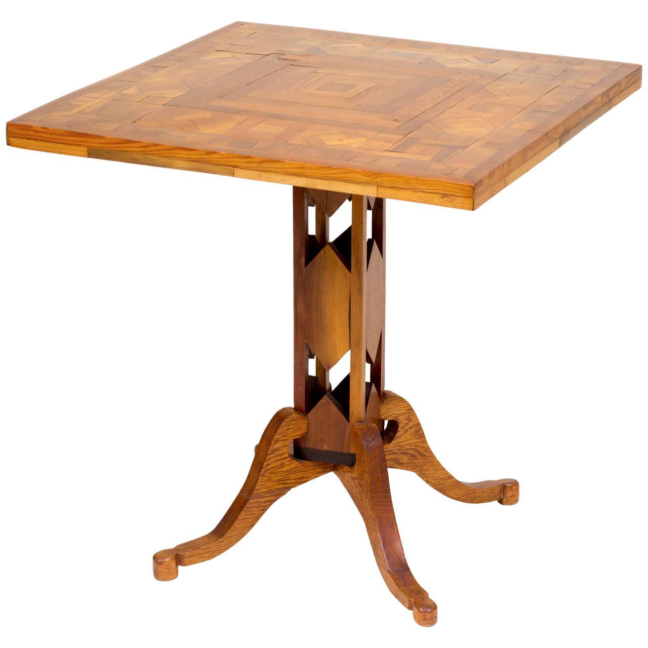 Early 20th Century American Folk Art Pedestal Table