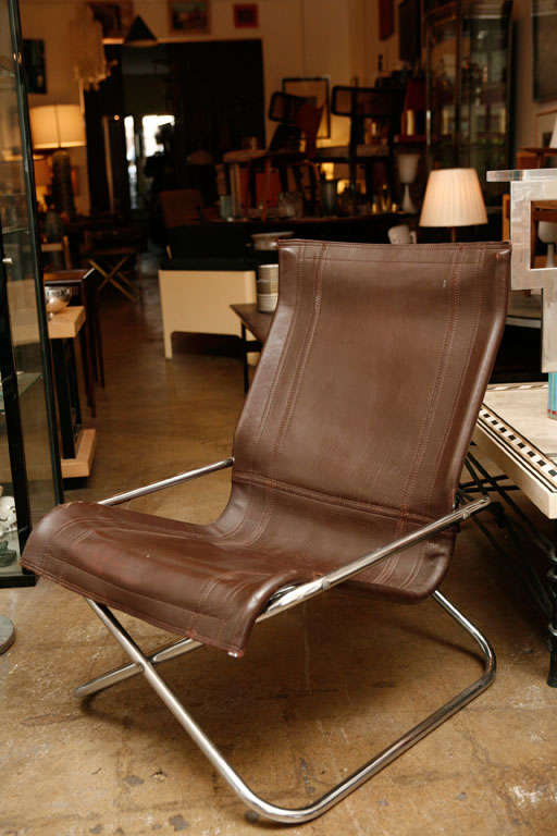 Uchida Leather Folding Chair At 1stdibs