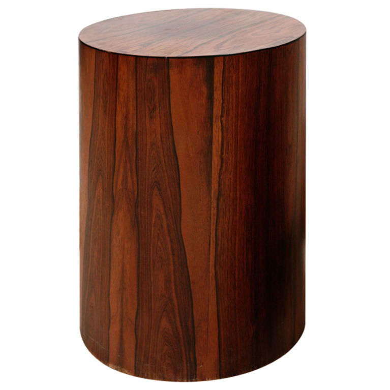 Milo baughman rosewood drum side table at 1stdibs for Drum side table