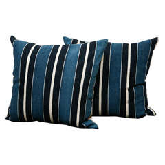 Striped Fabric From Mali Pillow