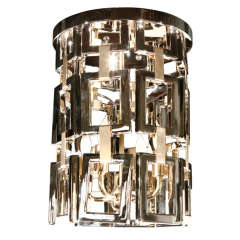 Paul Marra Link Fixture in Polished Nickel & Brass