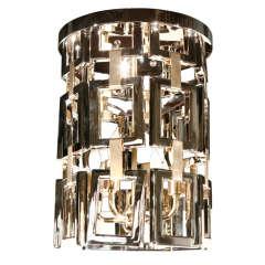 Paul Marra Link Fixture in Polished Nickel & Brass