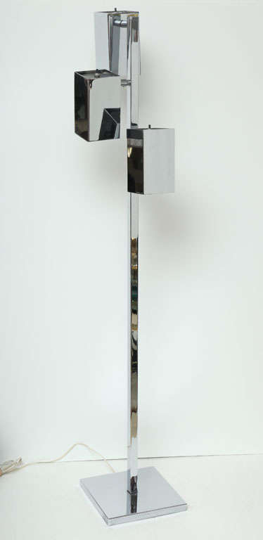 Chrome floor lamp.
