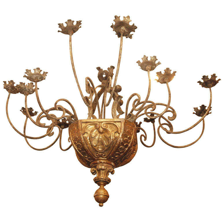 carriage light chandelier monumental16 arm gilt wood and iron chandelier from 2005