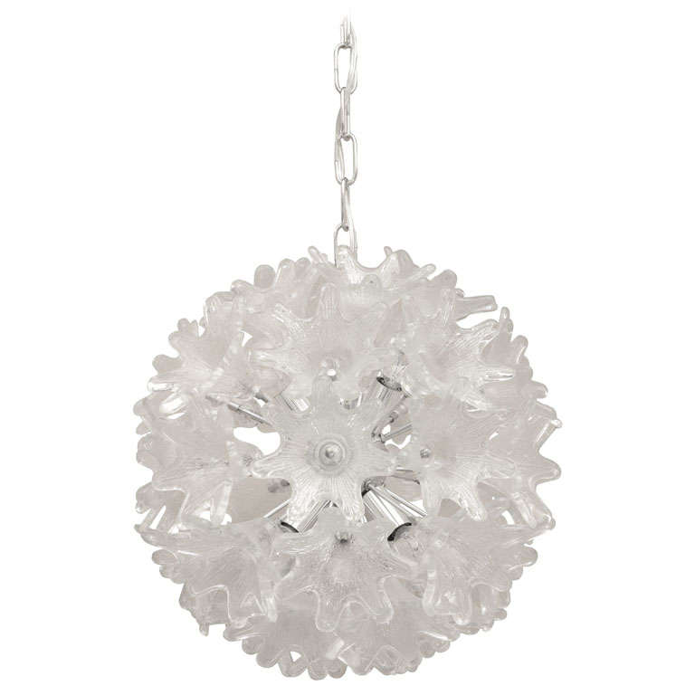Snowflake chandelier by venini at 1stdibs snowflake chandelier by venini for sale mozeypictures Choice Image