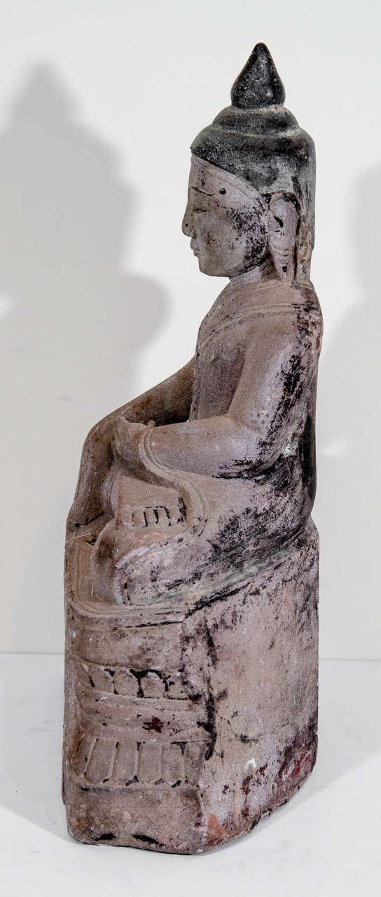 19th Century Sandstone Buddha Sculpture, circa 1800 For Sale