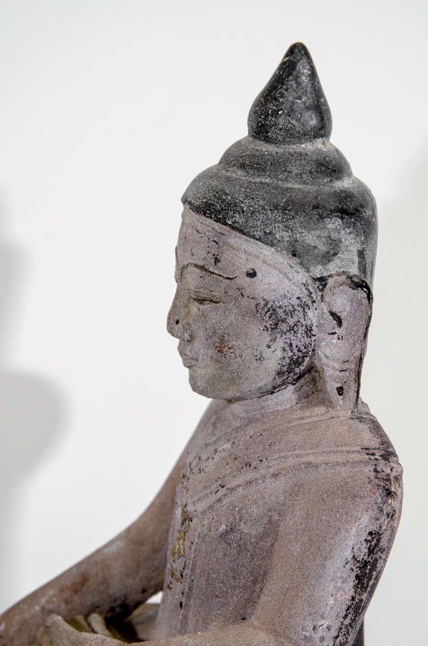 Sandstone Buddha Sculpture, circa 1800 For Sale 1
