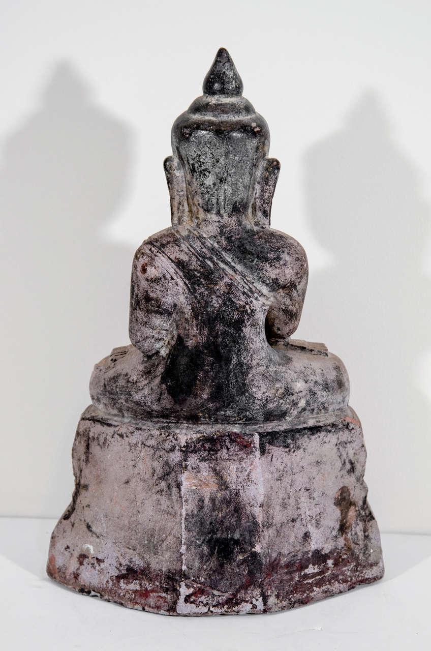 Sandstone Buddha Sculpture, circa 1800 For Sale 2