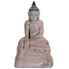 Sandstone Buddha Sculpture, circa 1800