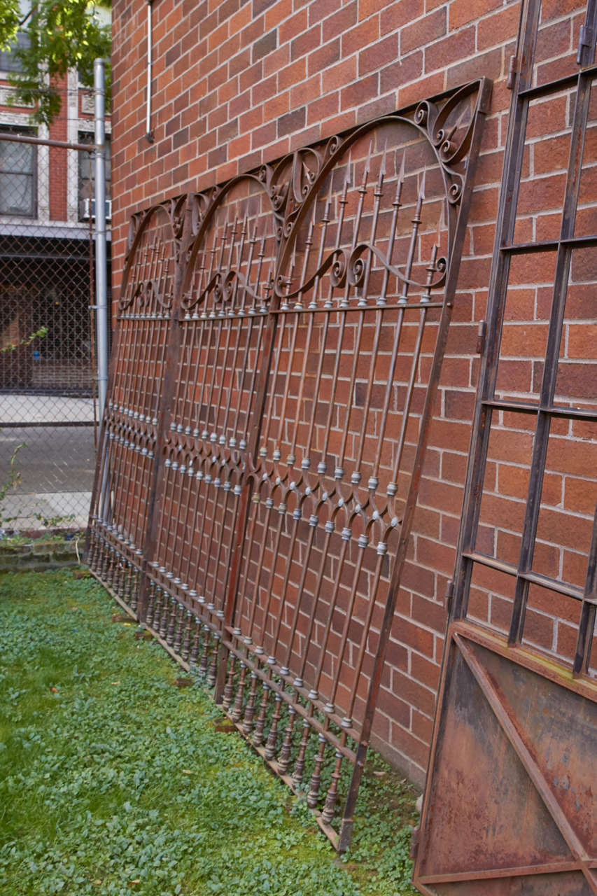 19th Century Chilean Iron Gates, Set of Three In Excellent Condition For Sale In New York, NY