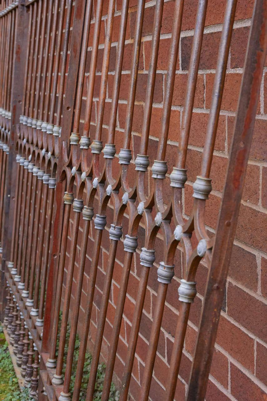 19th Century Chilean Iron Gates, Set of Three For Sale 7