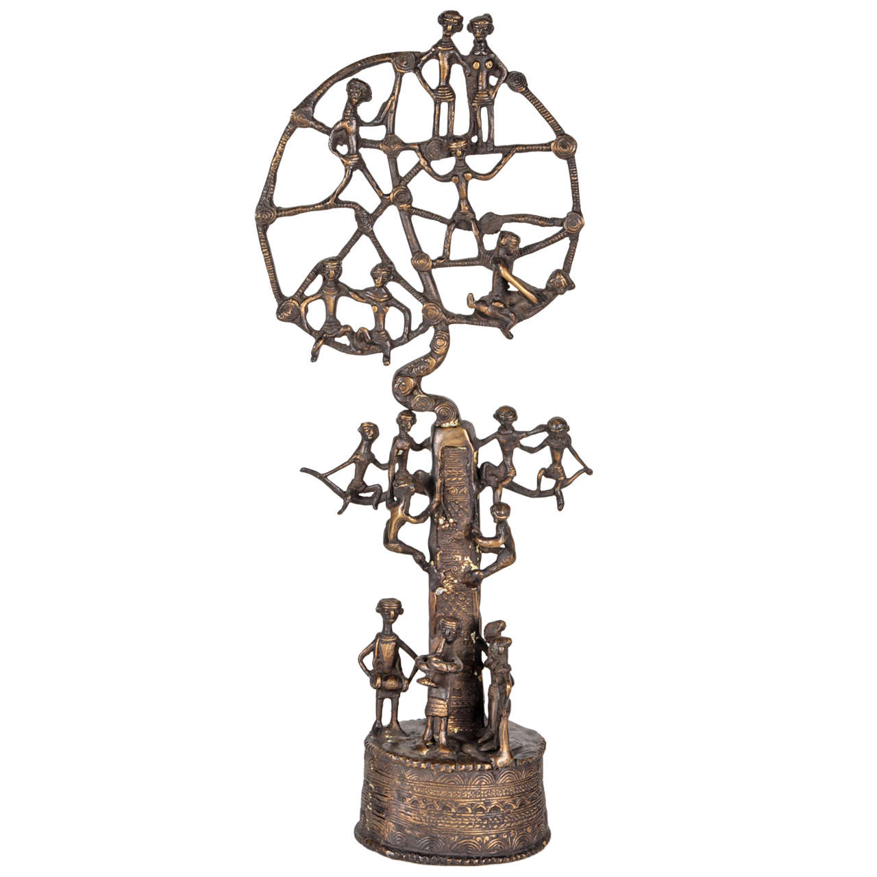 African Bronze Quot Tree Of Life Quot Sculpture 20th Century At