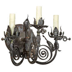 French Iron Handmade Single Sconce