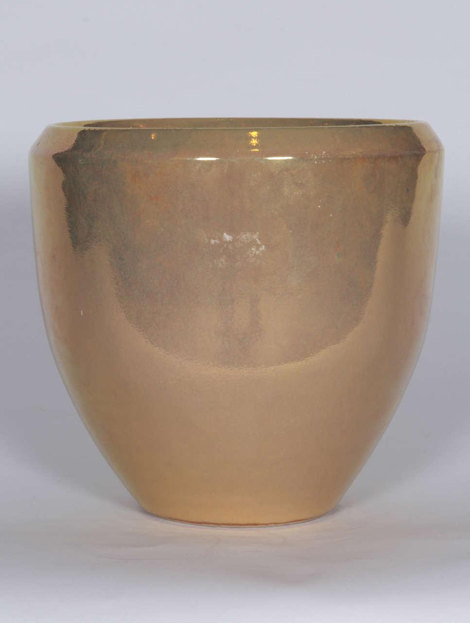 gold ceramic planter for sale at 1stdibs