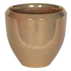 Gold Ceramic Planter