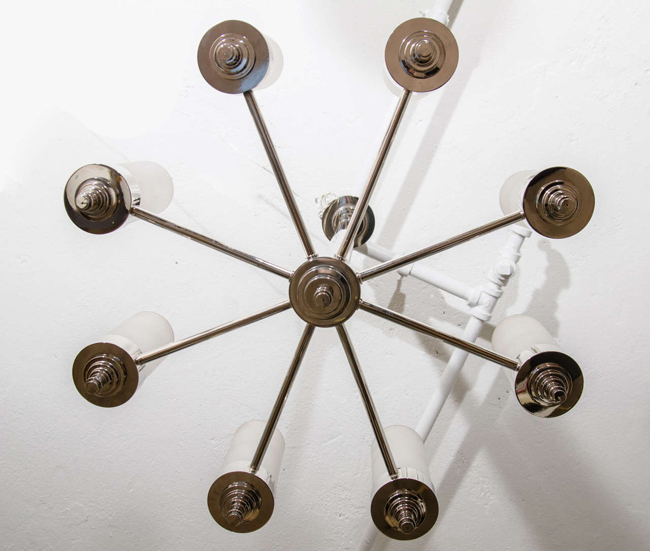 Jacques Adnet Chandelier for Petitot In Excellent Condition For Sale In New York, NY