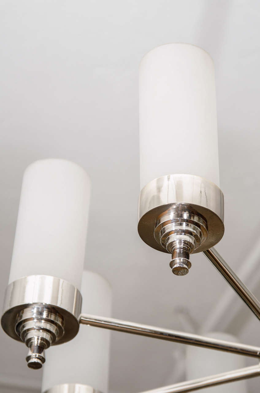 Jacques Adnet Chandelier for Petitot For Sale 1