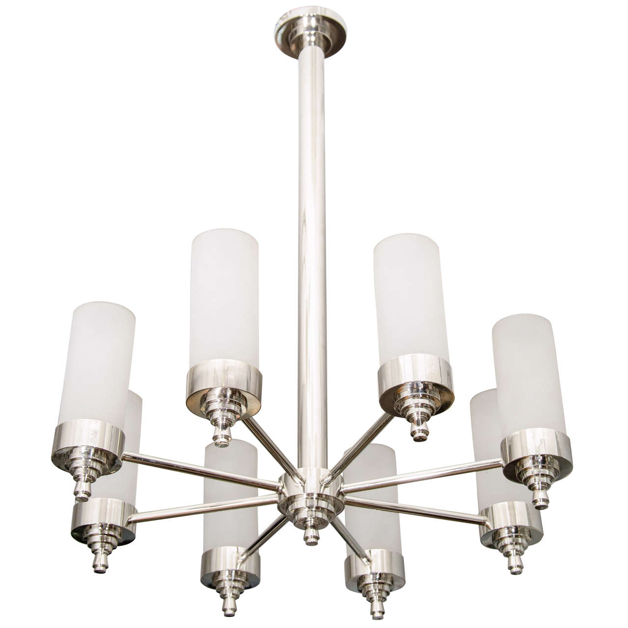 Jacques Adnet Chandelier for Petitot For Sale