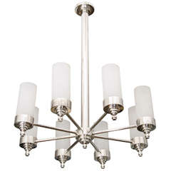 Jacques Adnet Chandelier for Petitot