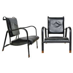 Nice pair of armchairs by Jacques Adnet