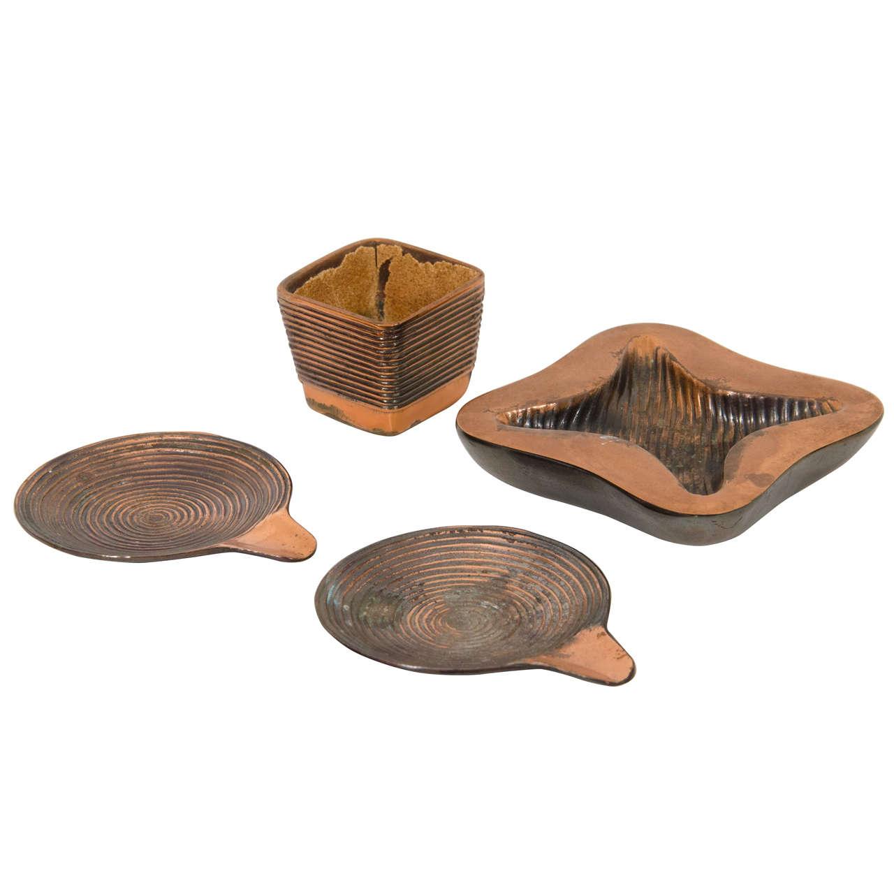 Ben Seibel for Jenfredware Four-Piece Copper Smoking Set