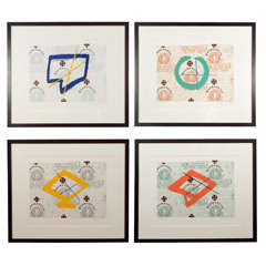 "Nicholas Howey, ""The Greek Apothecary Series"", Four Silkscreen Prints, USA, 1996"