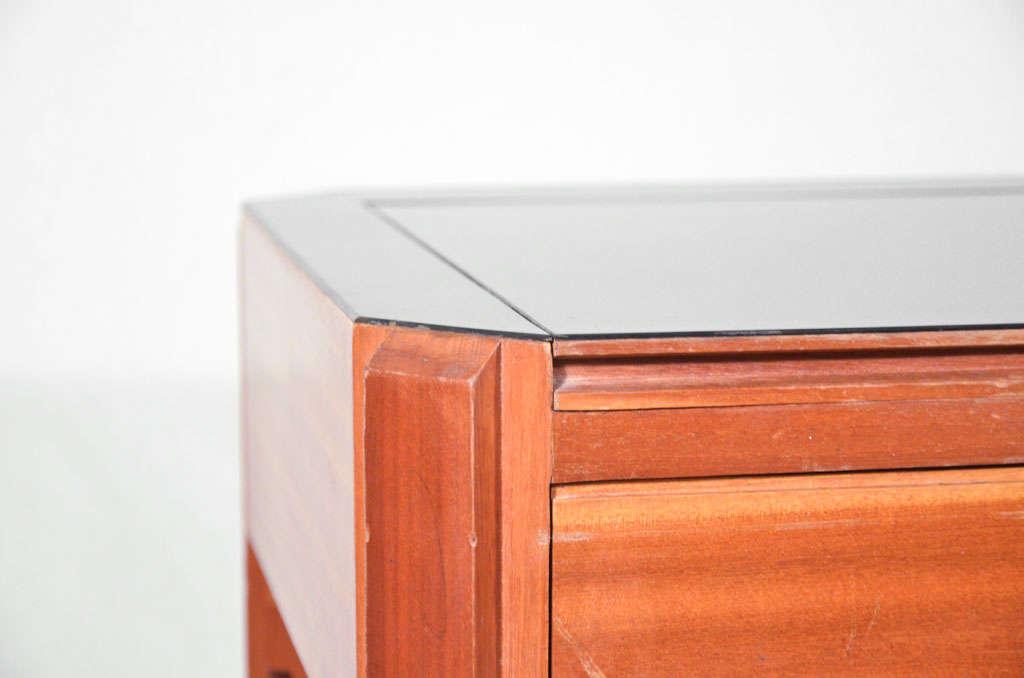Ico And Luisa Parisi Mahogany Wood And Laminate Glass