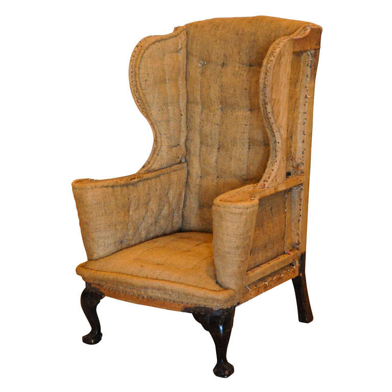 Queen Anne Wingback Chair United Kingdom 18th C