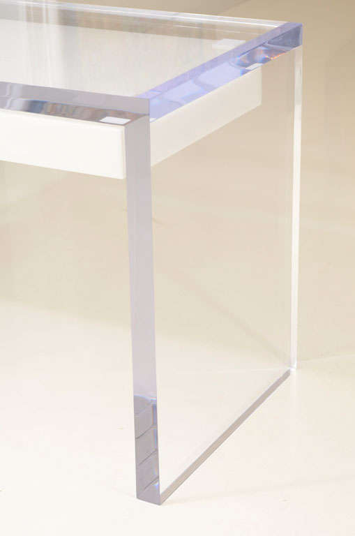 Magnificent Large Lucite Desk with Drawers image 3