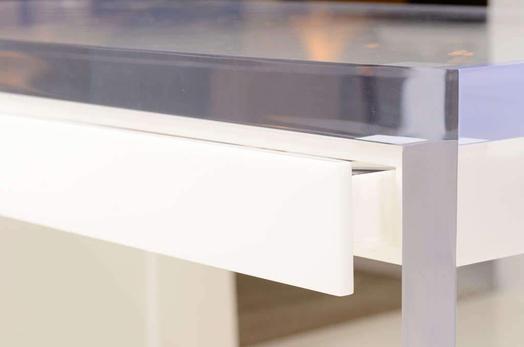 Magnificent Lucite Desk with Drawers at 1stdibs