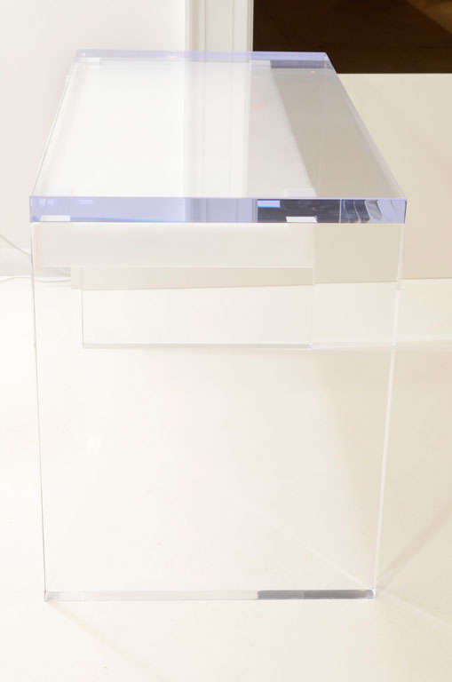 Magnificent Large Lucite Desk with Drawers image 6