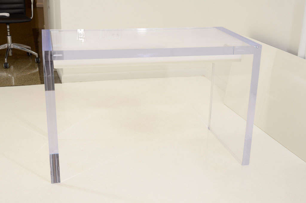 Magnificent Large Lucite Desk with Drawers 7
