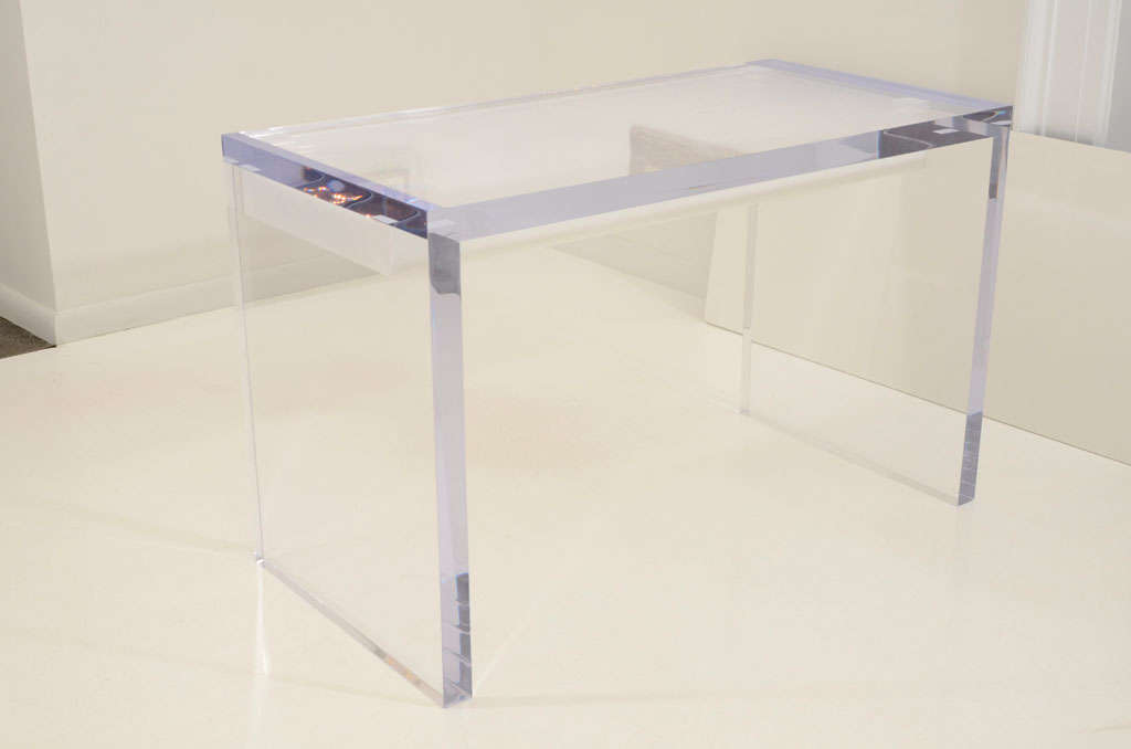 Magnificent Large Lucite Desk with Drawers image 8