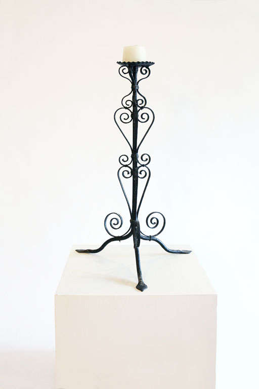 Handmade iron candlesticks from France.