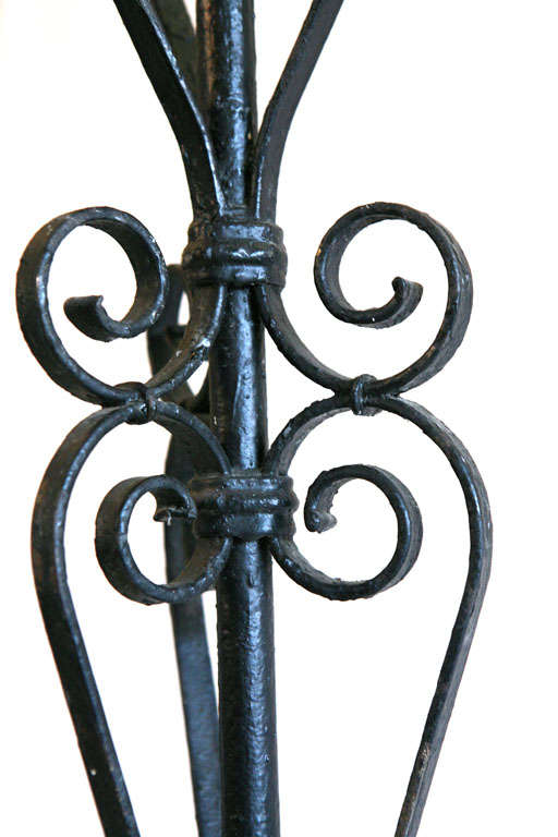 Pair of Iron Candlesticks For Sale 3