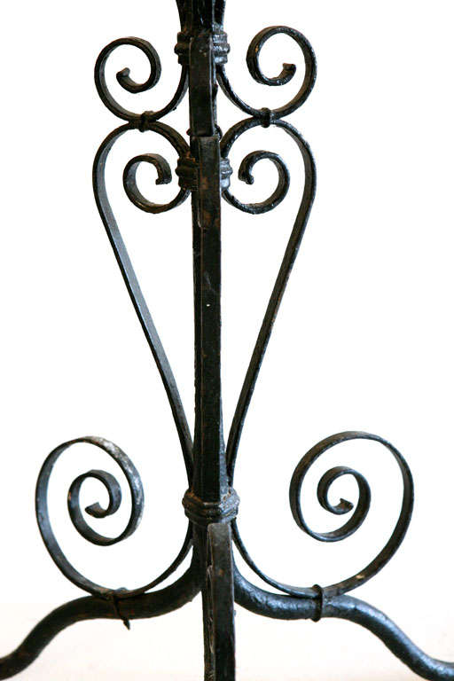 Pair of Iron Candlesticks For Sale 4