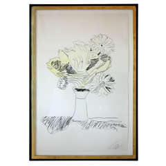 Andy Warhol Screenprint, Vase with Flowers
